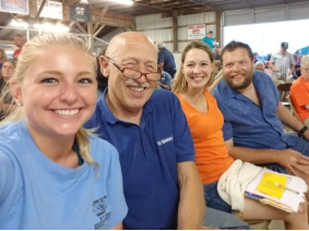 Left to right: Dr. Nicole, Dr. Pol, and Dr. Pol's daughter-in-law and son, Beth and Charles