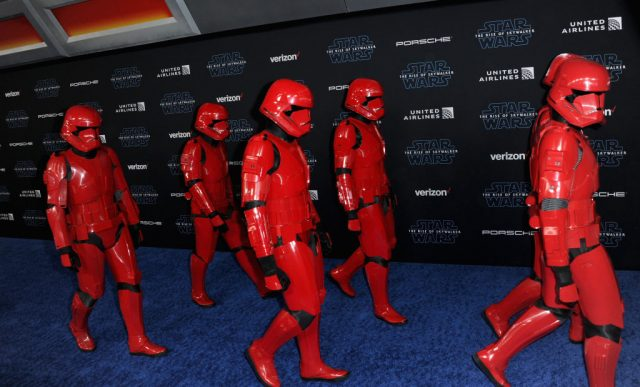Sith Troopers at the premiere of 'Star Wars: The Rise Of Skywalker'