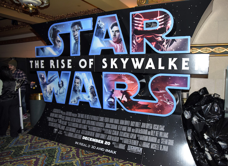 A sign showing the Star Wars logo