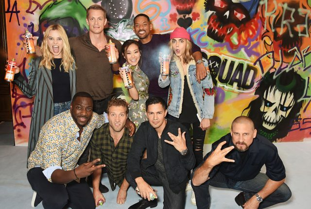 The cast of 'Suicide Squad' and director David Ayer