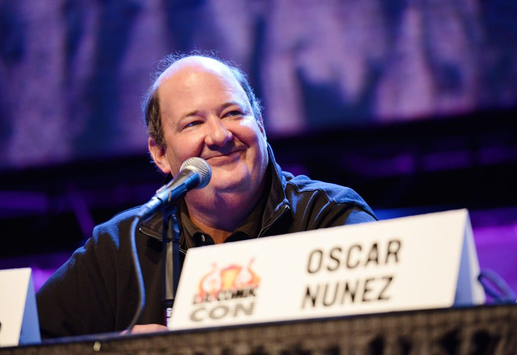 Brian Baumgartner of 'The Office' on stage at a panel at 2019 LA Comic-Con