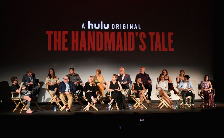 The cast and crew of 'The Handmaid's Tale'