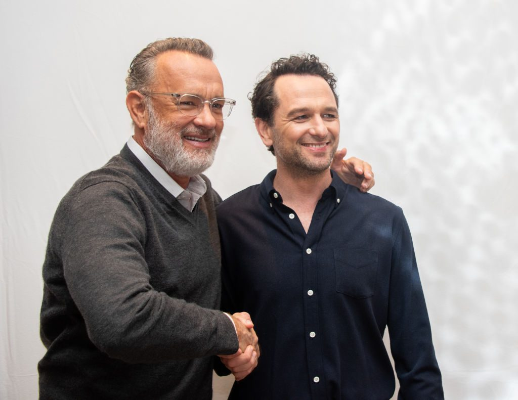 """Tom Hanks and Matthew Rhys at """"A Beautiful Day In The Neighborhood"""" Press Conference"""