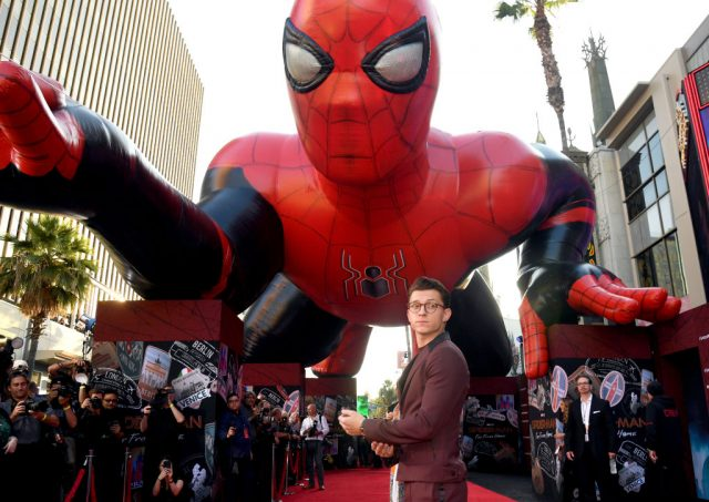 Tom Holland at the premiere of 'Spider-Man Far From Home'