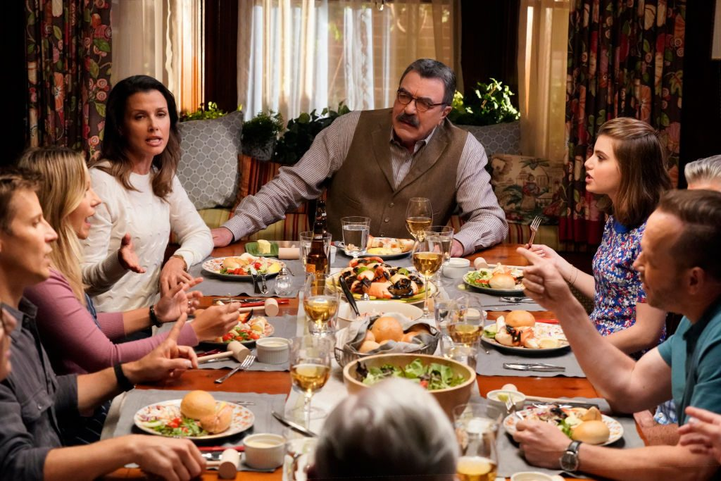 Tom Selleck and the Blue Bloods cast | John Paul Filo/CBS via Getty Images