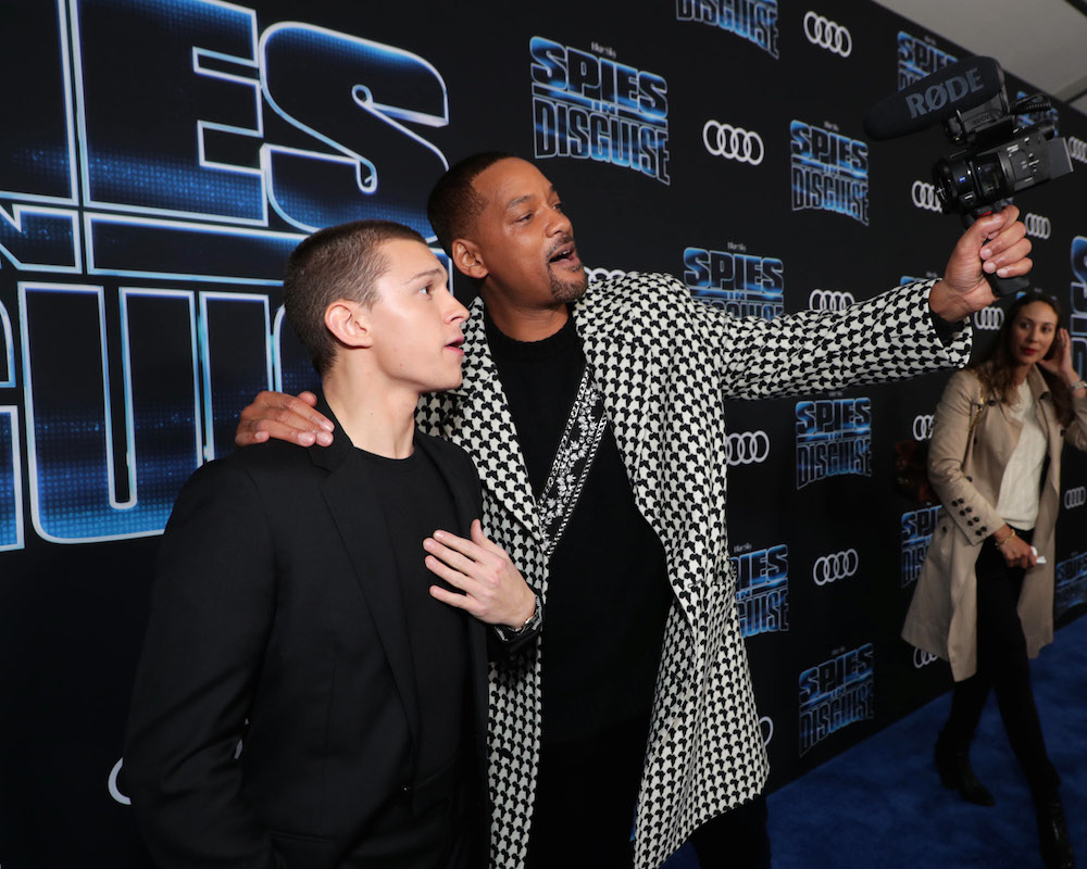Tom Holland and Will Smith