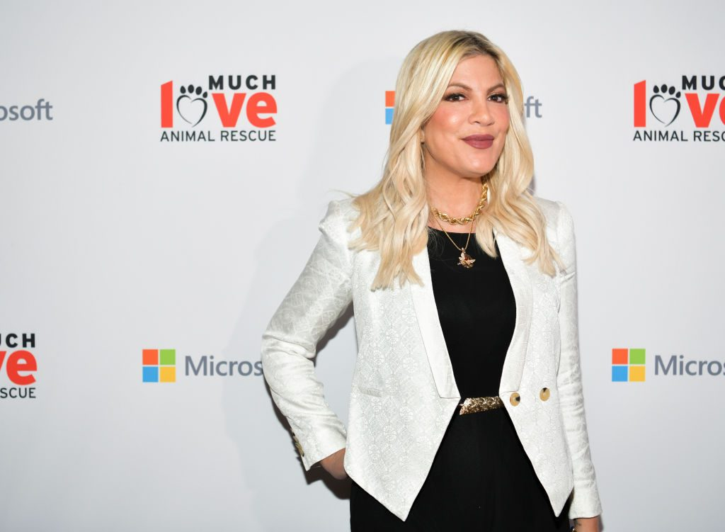 Tori Spelling attends the Much Love Animal Rescue 3rd Annual Spoken Woof Benefit