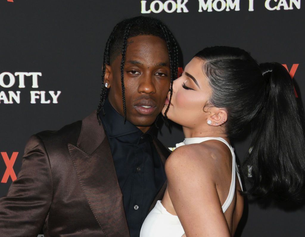 Travis Scott and Kylie Jenner on the red carpet in August of 2019