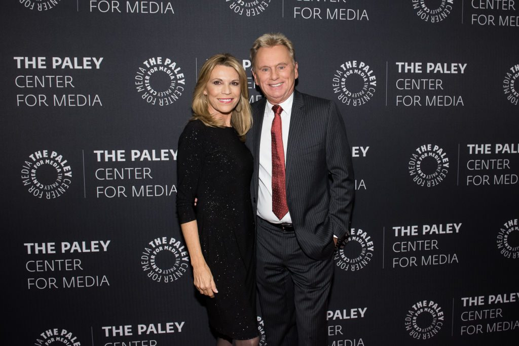 Wheel of Fortune hosts Vanna White and Pat Sajak