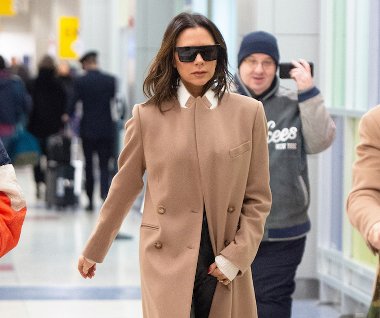 Victoria Beckham photographed at the airport