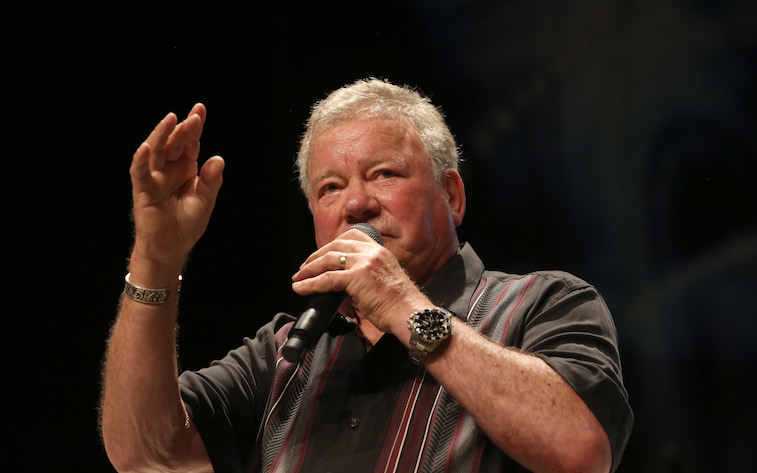 William Shatner speaks onstage