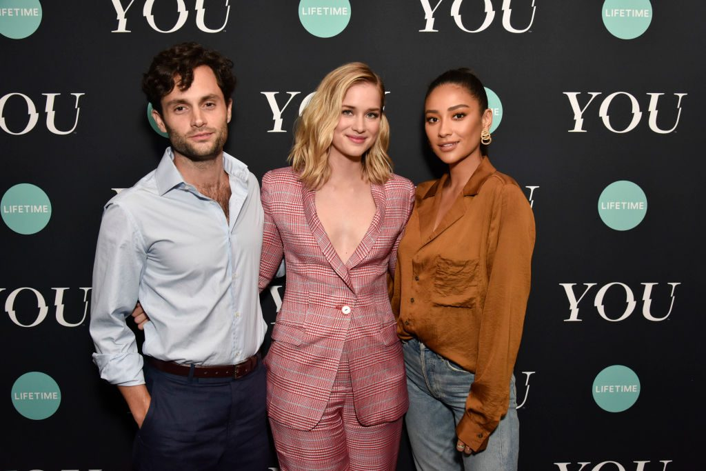 Penn Badgley, Elizabeth Lail, and Shay Mitchell 'You' Series