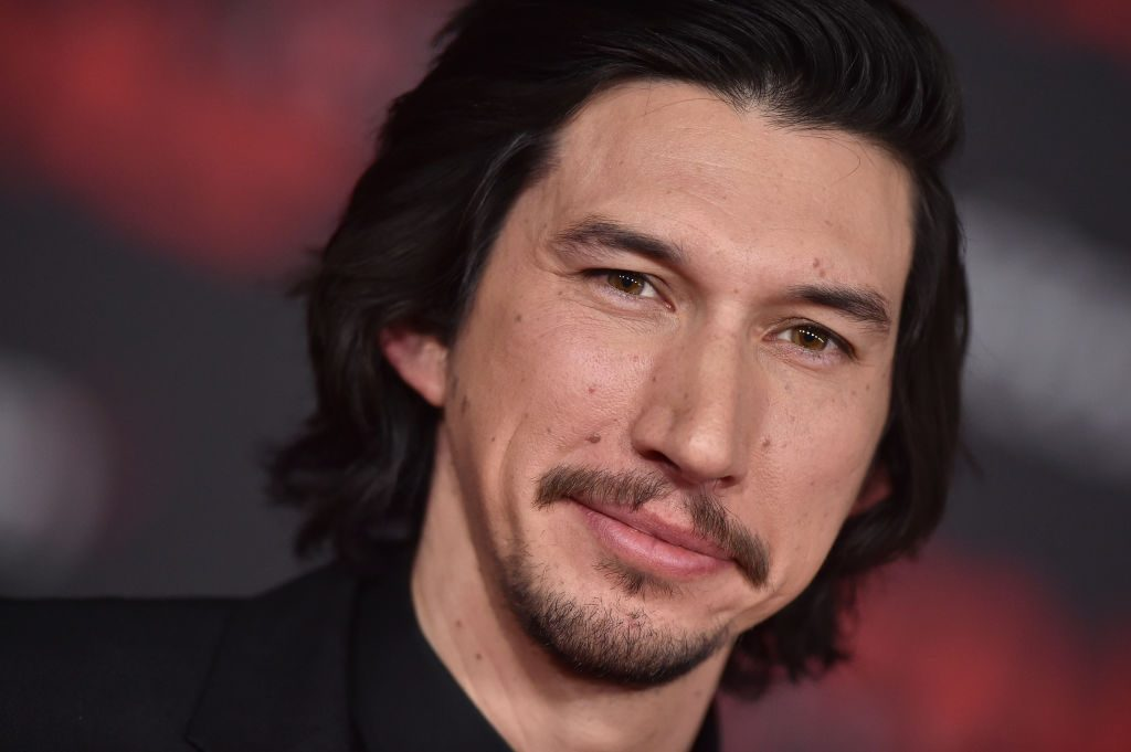 Adam Driver attends the Los Angeles premiere of 'Star Wars: The Last Jedi' at The Shrine Auditorium.