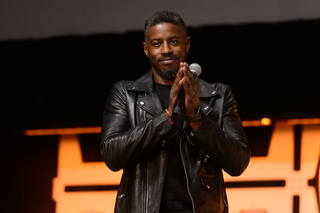 Ahmed Best, who famously played Jar Jar Binks in the 'Star Wars' prequels, onstage at Star Wars Celebration on April 11, 2019.