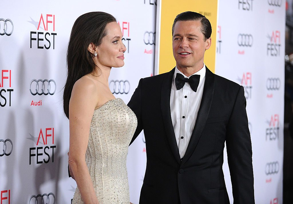 Angelina Jolie and Brad Pitt on the red carpet in 2015