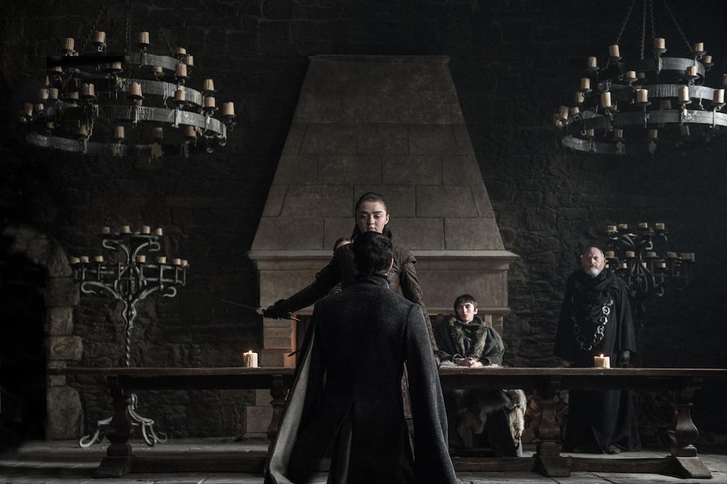 Arya Stark (Williams) kills off Littlefinger in Season 7.