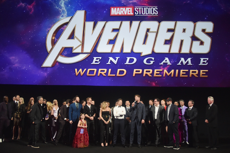 The cast of Avengers: Endgame at the world premiere