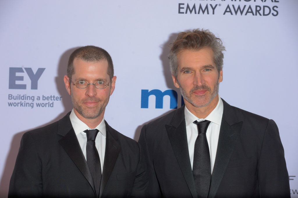 D. B. Weiss and David Benioff at the 2019 International Emmy Awards.