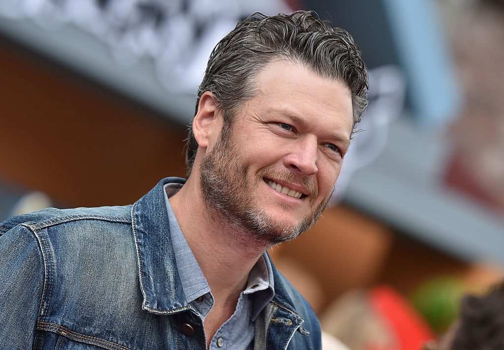 Blake Shelton arrives at the premiere of Sony Pictures' 'The Angry Birds Movie' at Regency Village Theatre.