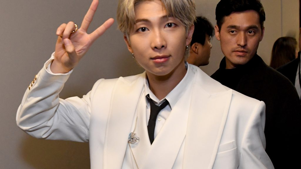 RM of BTS attends 102.7 KIIS FM's Jingle Ball 2019 Presented by Capital One at the Forum on December 6, 2019 in Los Angeles, California