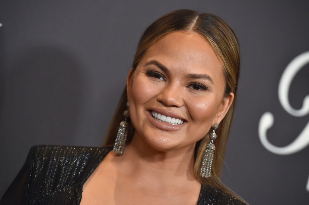Chrissy Teigen arrives at the Lip Sync Battle LIVE: A Michael Jackson Celebration at Dolby Theatre.