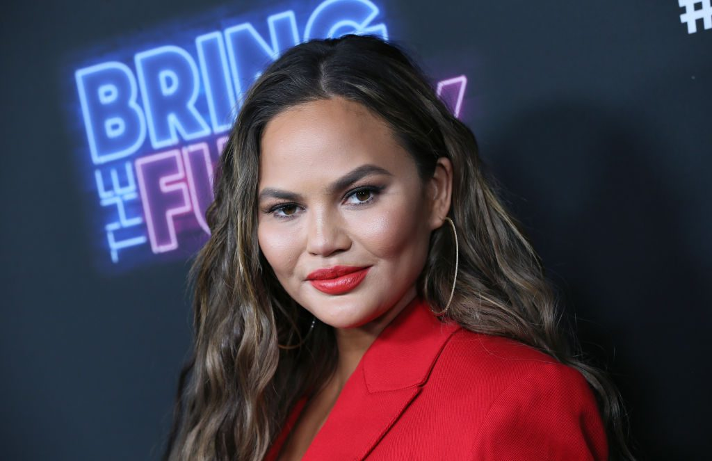 """Chrissy Teigen attends the premiere of NBC's """"Bring The Funny"""" at Rockwell Table & Stage."""