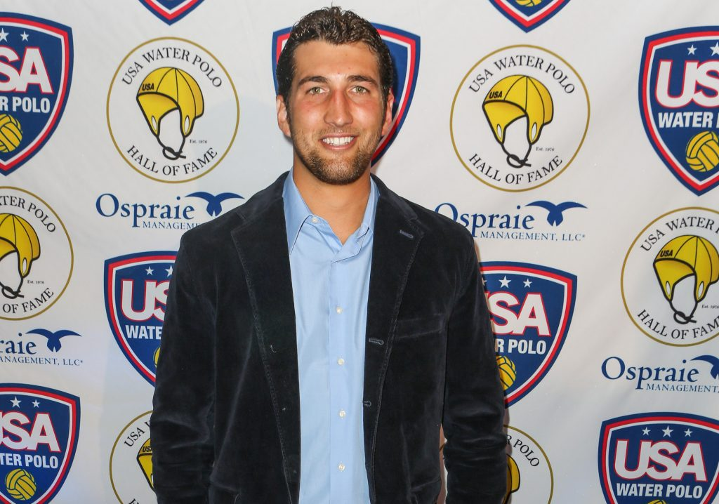 Clayton Snyder at the 2012 at the U.S. Olympic water polo teams official send-off