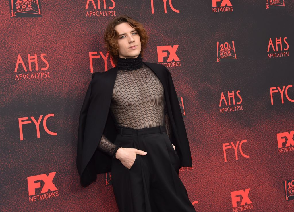 Cody Fern arrives who plays the antichrist Michael Langdon in 'American Horror Story: Apocalypse' at the FYC red carpet event at Neuehouse.