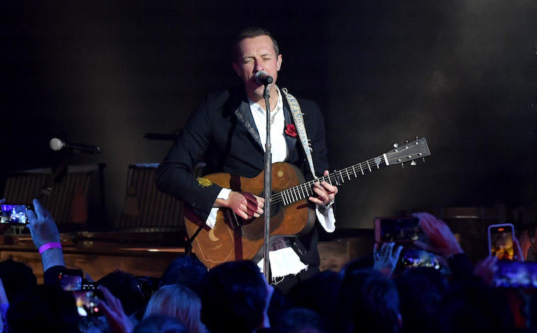 Chris Martin performs onstage