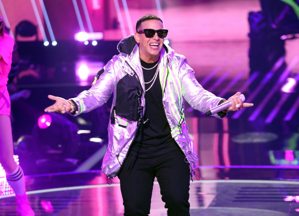 Daddy Yankee performing at Univision's Reina de la Cancion Finals at Univision Studios.