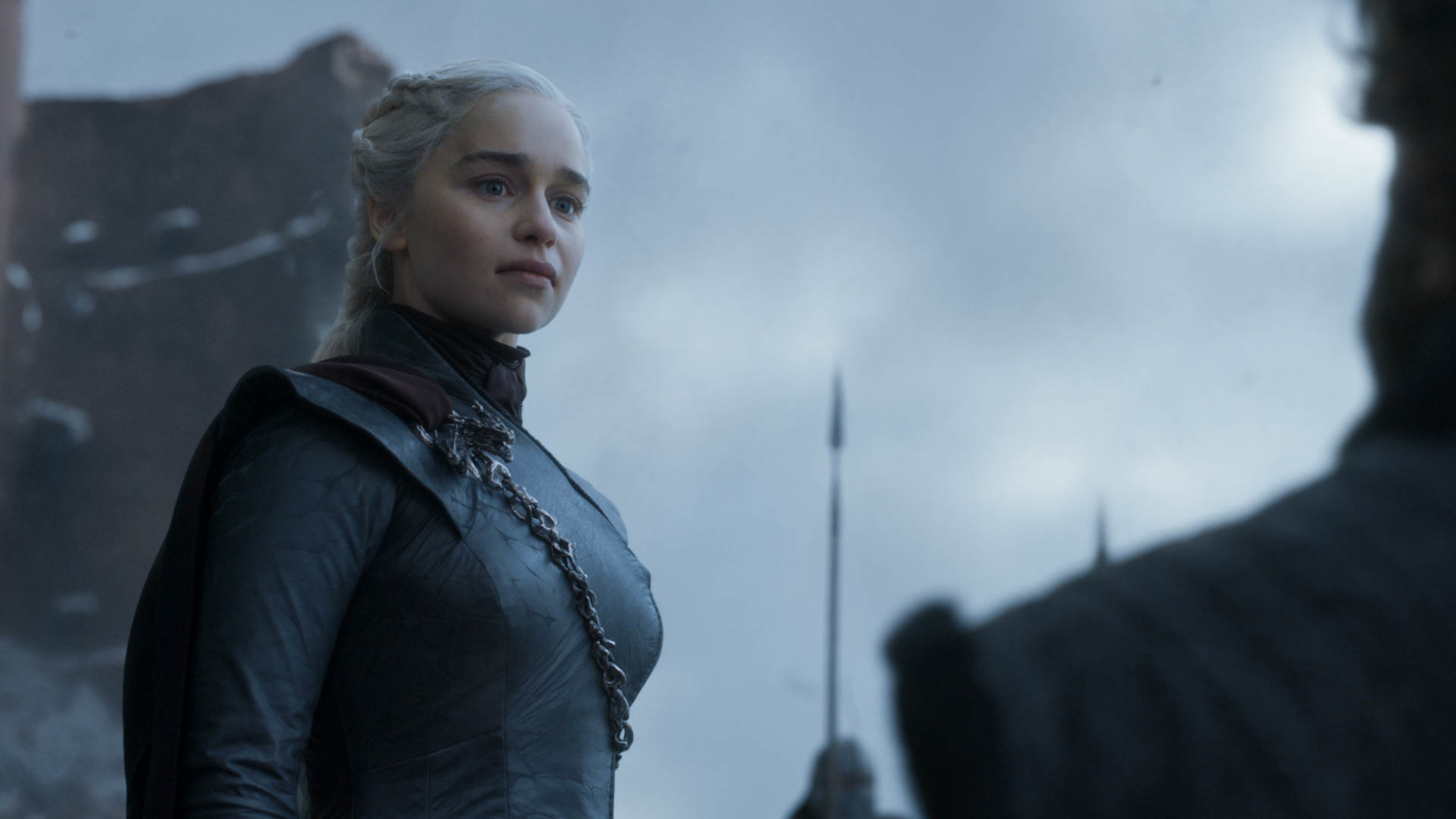 Daenerys Targaryen (Emilia Clarke) after her rousing speech in the series finale of 'Game of Thrones.'