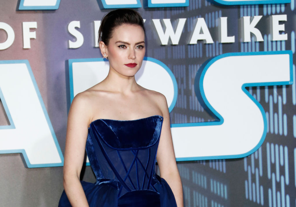 Daisy Ridley at the European Premiere of 'Star Wars: The Rise of Skywalker.'