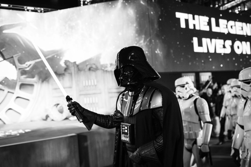 Darth Vader at the European premiere of 'Star Wars: The Rise of Skywalker.'