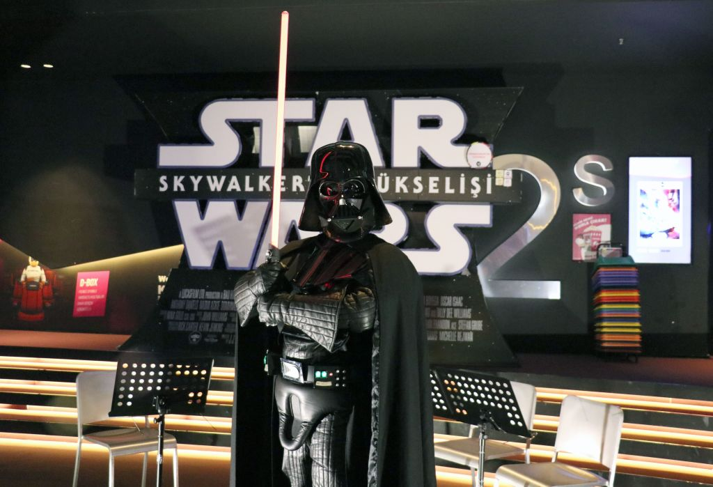 A fan dressed as Darth Vader as a part of the Turkish 501st Legion and the Rebel Legion at a screening of 'The Rise of Skywalker.'