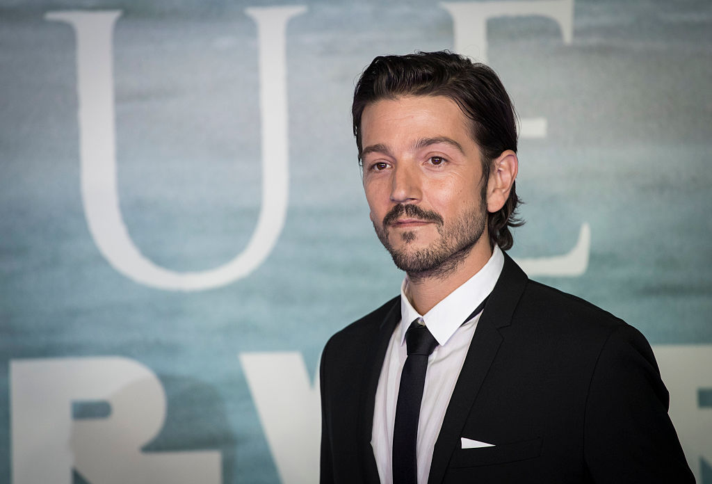 Diego Luna at the launch event for 'Rogue One: A Star Wars Story' in London, England in 2016.
