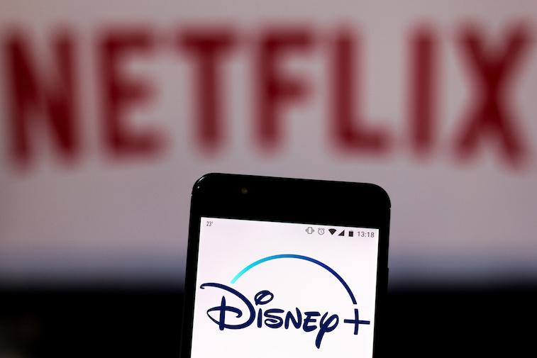 Disney logo on a phone screen