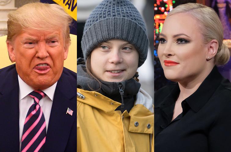 Donald Trump, Greta Thunberg, and Meghan McCain