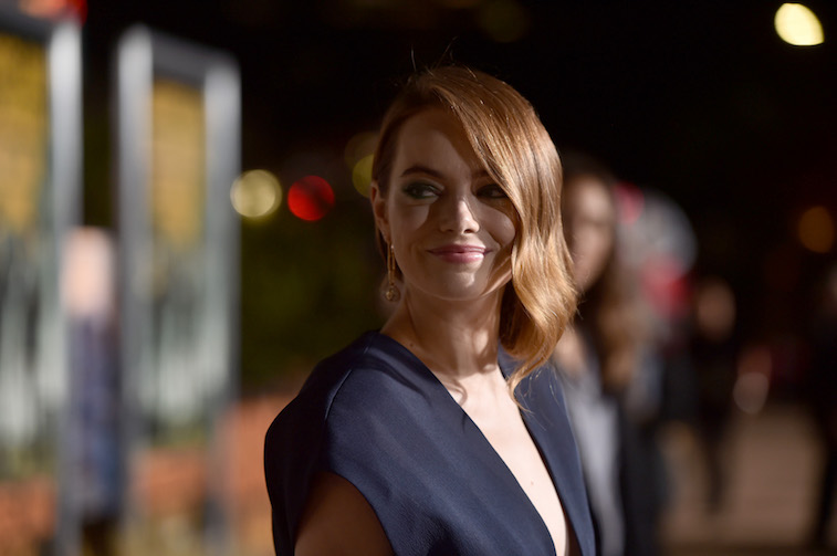 Emma stone on the red carpet