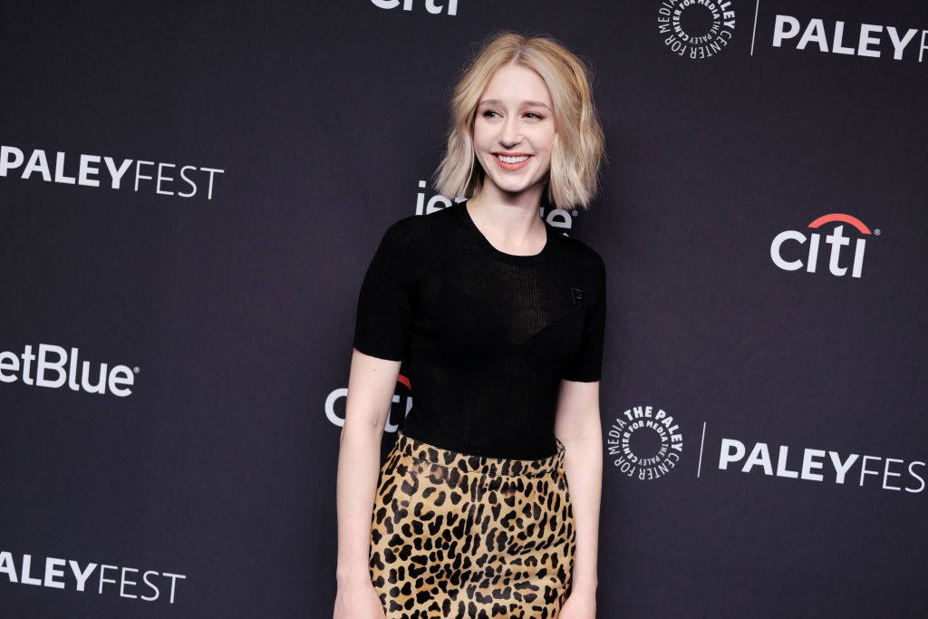 Taissa Farmiga at The Paley Center for Media's 2019 PaleyFest LA 'The Twilight Zone' panel. She starred in one episode of the remake.