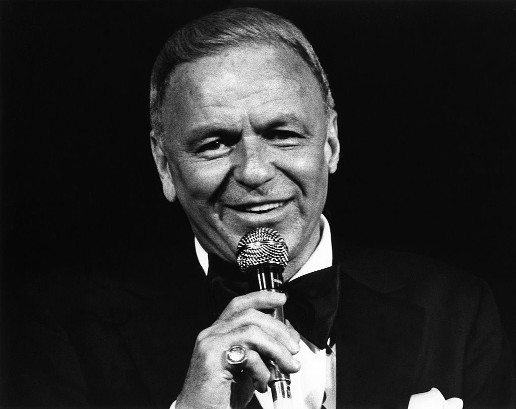 Frank Sinatra performs at The Universal Amphitheatre on July 6, 1980.