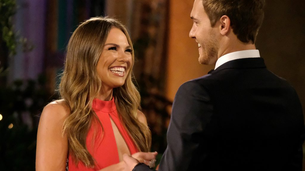 Hannah Brown and Peter Weber during limo night on The Bachelor Season 24