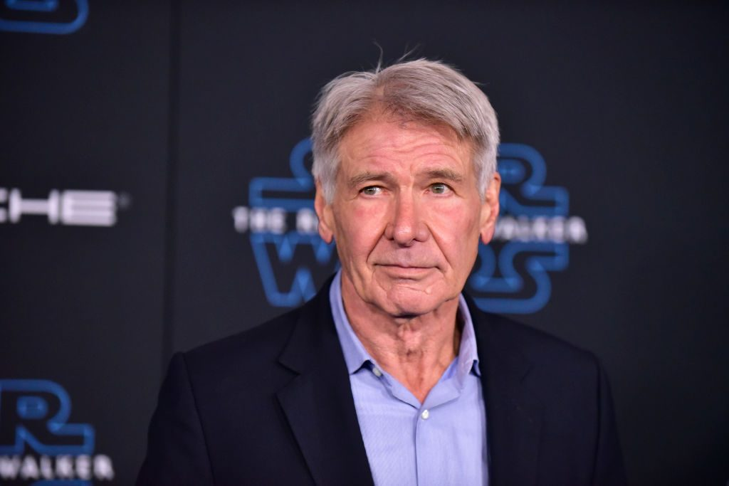 """Harrison Ford attends the Premiere of Disney's """"Star Wars: The Rise Of Skywalker"""" on December 16, 2019."""