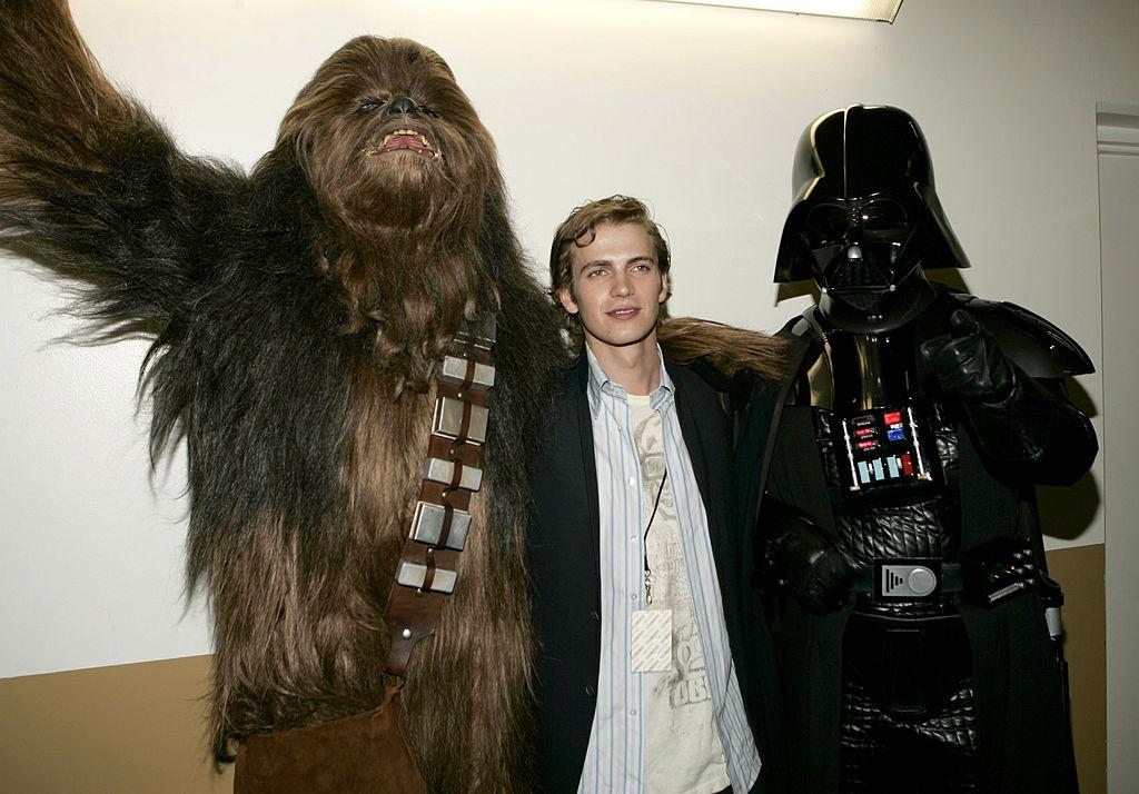 Chewbacca, Hayden Christensen, and Darth Vader at Nickelodeon's 18th Annual Kids Choice Awards.