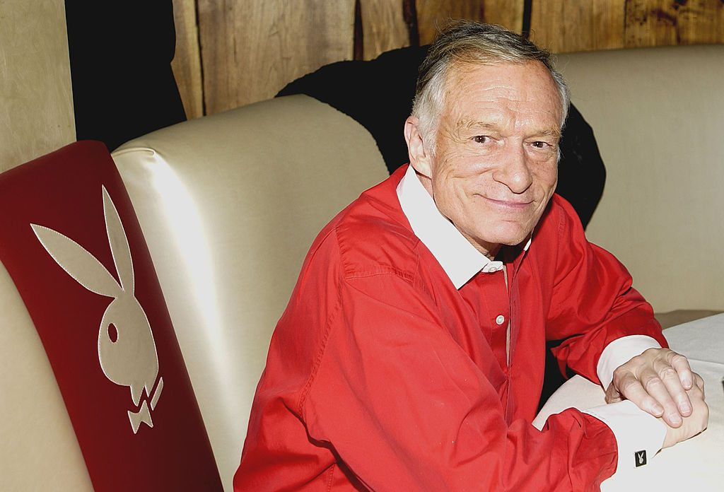"Hugh Hefner during ""Hef's Fabulous Life"" Celebration at Bliss at Bliss Restaurant in West Hollywood, California."