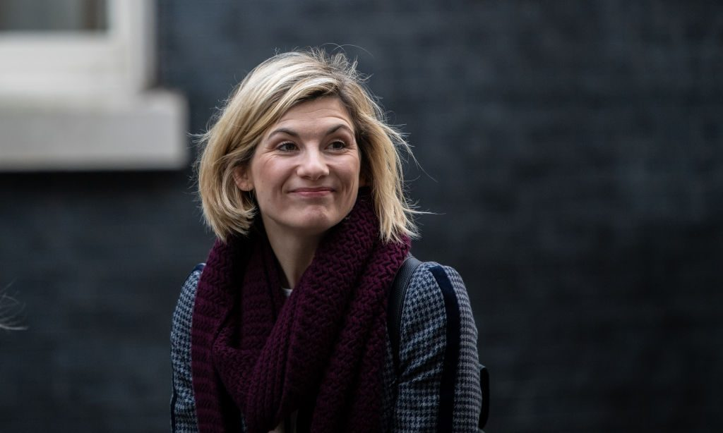 Jodie Whittaker attends a Children's Christmas Party at 11 Downing Street