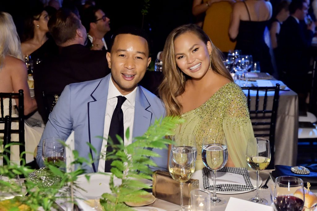 John Legend and Chrissy Teigen attend the 2019 Baby2Baby Gala.