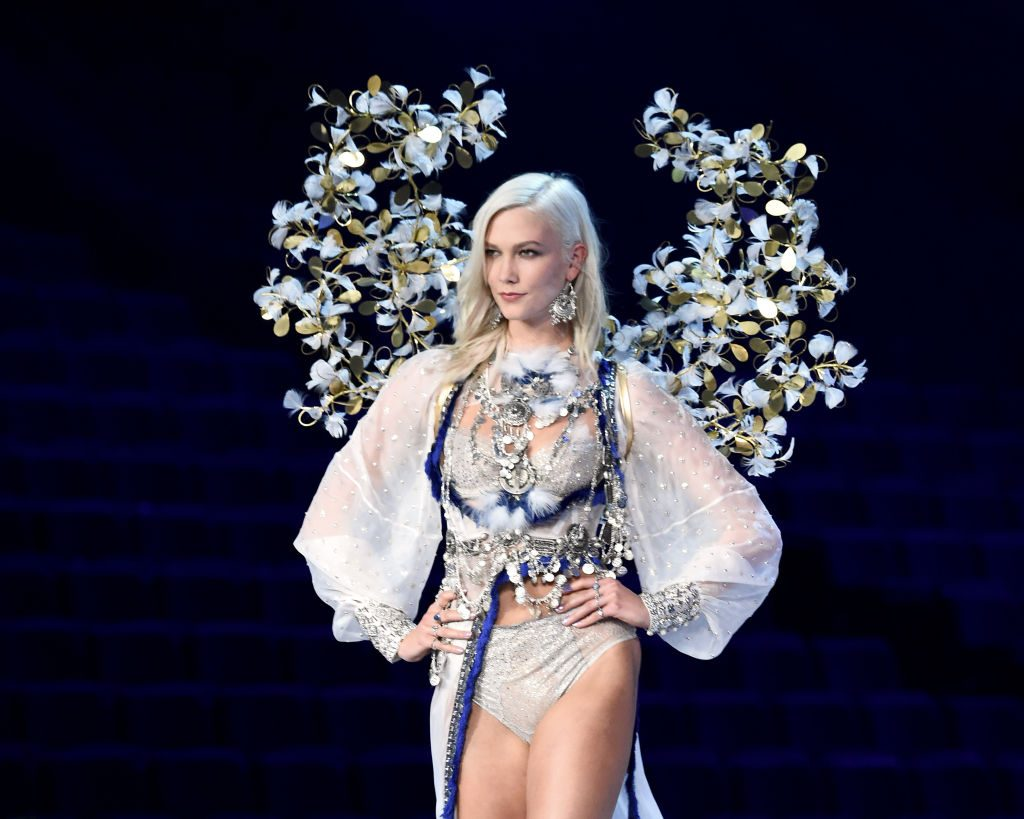 Karlie Kloss walks the runway during the 2017 Victoria's Secret Fashion Show.