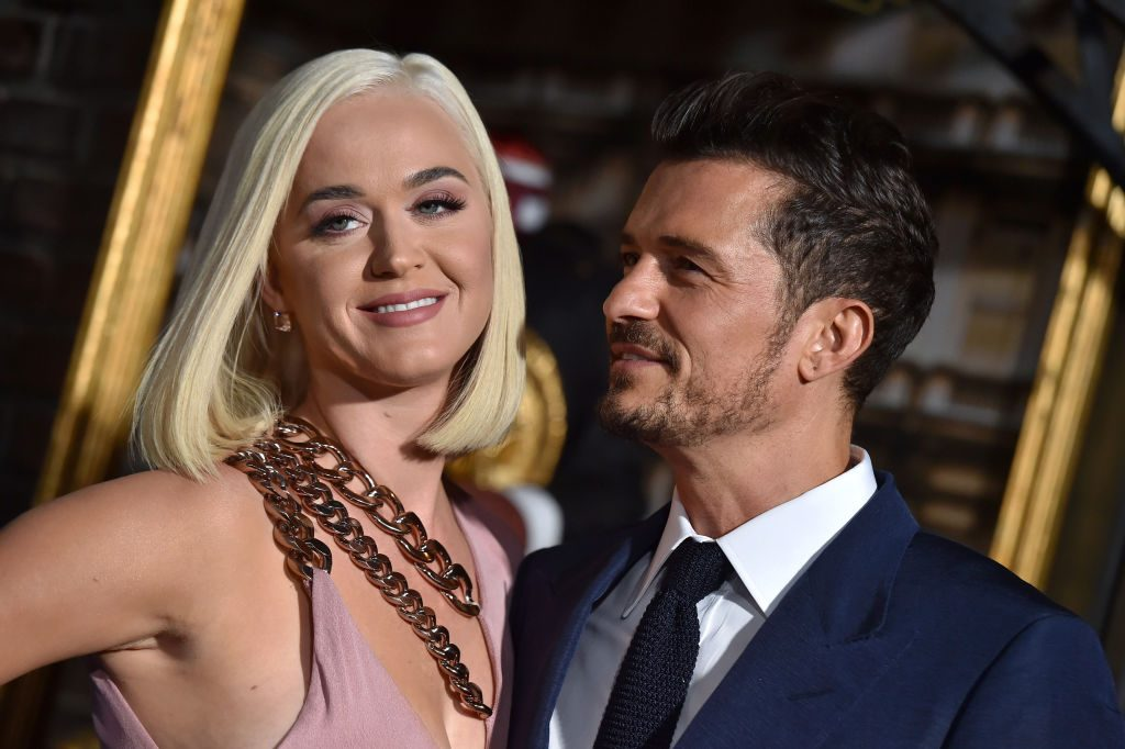 Katy Perry and Orlando Bloom at an event in 2019