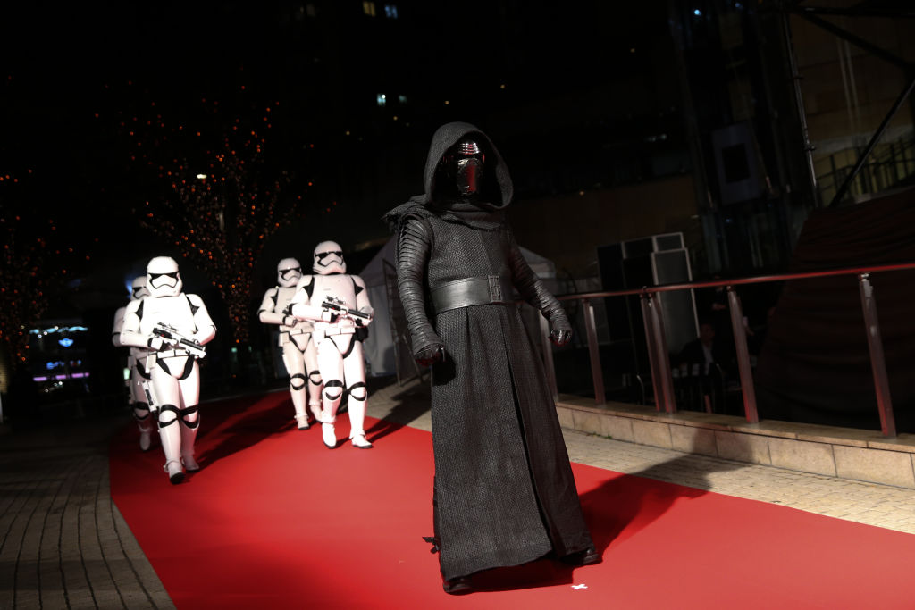 Kylo Ren with Stormtroopers at the 'Star Wars: The Last Jedi' Japan Premiere & Red Carpet.