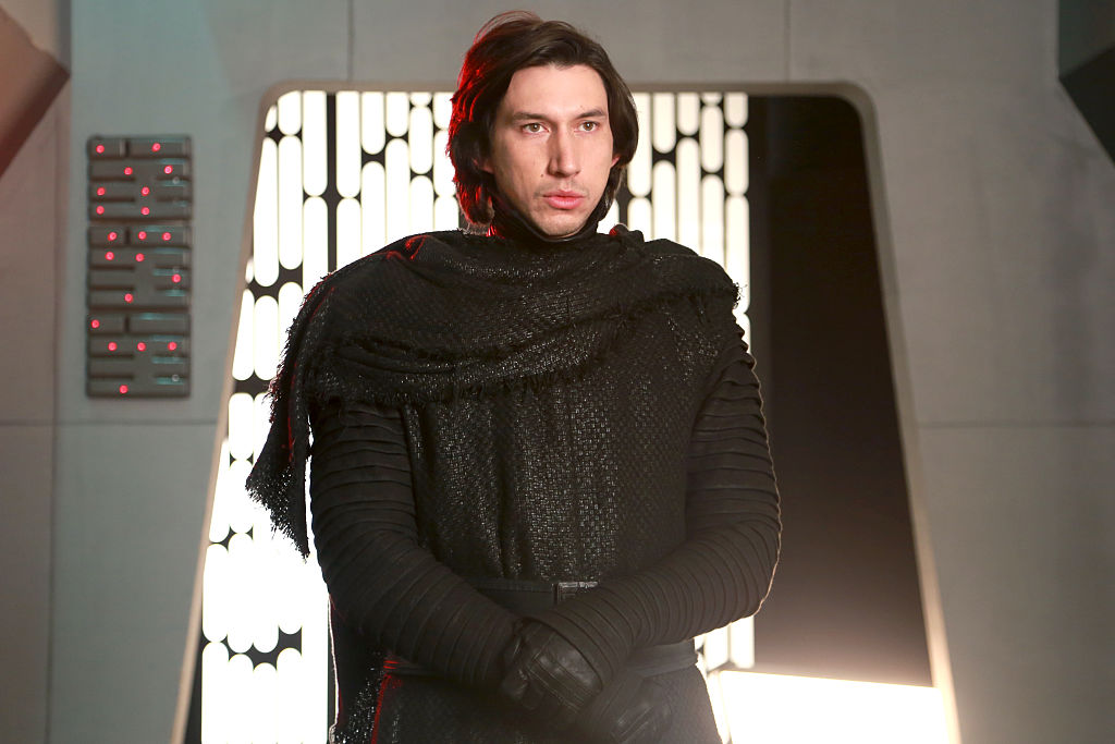 """Adam Driver dressed as Kylo Ren on the """"Adam Driver"""" Episode of 'Saturday Night Live,' for the """"Undercover Boss"""" sketch."""
